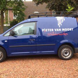 Autobelettering schilderbedrijf Pieter van Moort